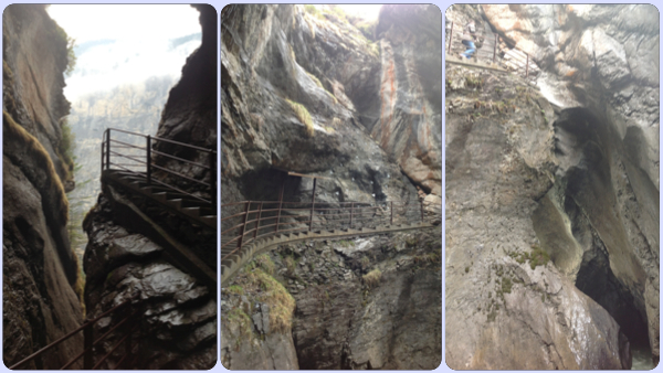 폭포 계단